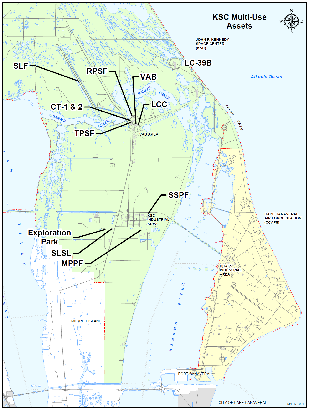 Maps Cape Canaveral Map on